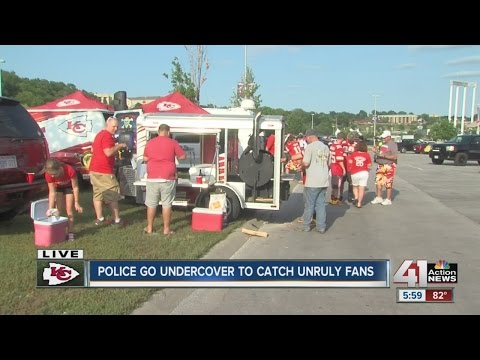 Undercover cops posing as other team's fans at Arrowhead Stadium