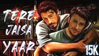 Tere Jaisa Yaar Kahan(REMIX) || Full Song ||😊 Iron Man Friendship Captain America😊 || Marvel || HD