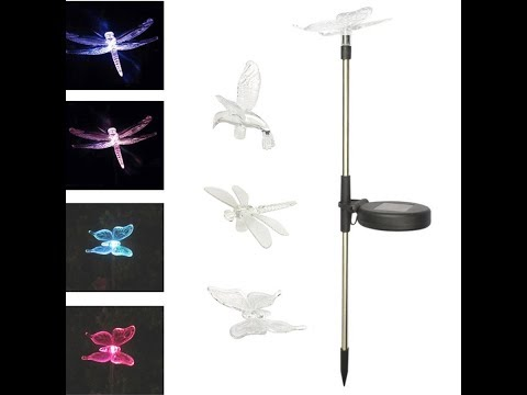 Tuzech Butterfly, Hummingbird & Dragonfly Colour Changing Solar Stake Lights
