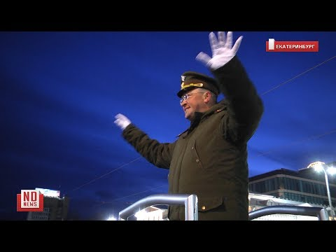 Ночная репетиция Парада Победы 2019 в Екатеринбурге
