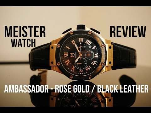 d72bbfae11 MEISTER/MSTR WATCH REVIEW 2016 - GOLD/BLACK LEATHER - YouTube