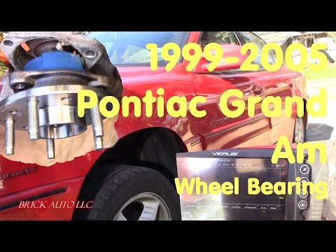 Best DIY front wheel bearing / hub replacement 2001 Pontiac Grand Am 99-05 Outter tie rod end too
