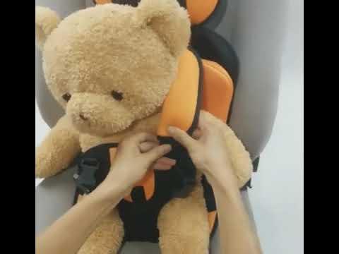 Портативное бескаркасное детское автокресло 9-36 кг. Кресло автомобильное до 12 лет