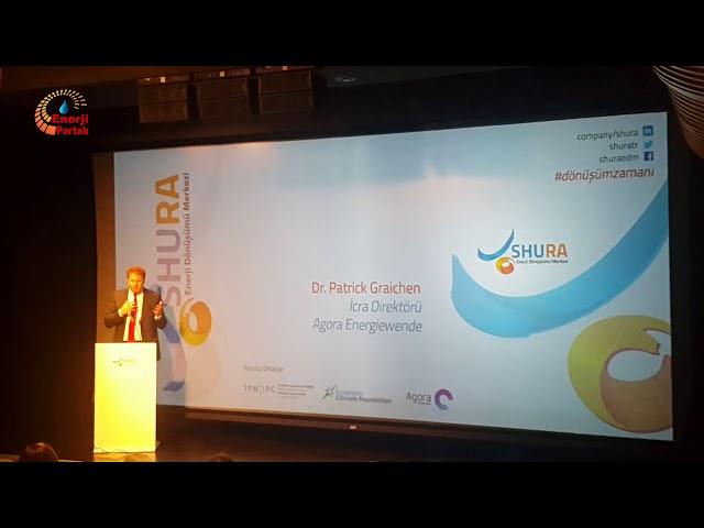 SHURA Enerji Dönüşüm Merkezi TanıtımTop. Agora Energiewende Dir. Dr. Patrick Graichen Konuşması