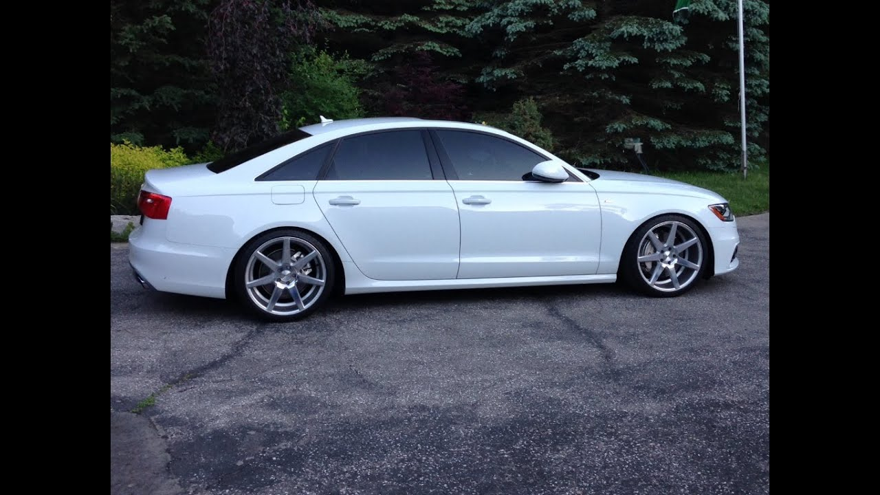 Audi A6 S Line Vossen Cv7 20 Quot Wheels H Amp R Lowering Youtube