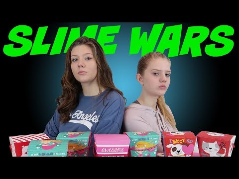 SLIME WARS BOX OF LIES || VALENTINES DAY EDITION || Taylor and Vanessa