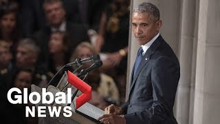 John McCain funeral: Barack Obama FULL eulogy