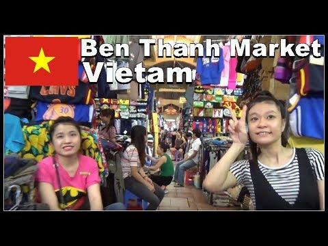 Ho Chi Minh City - Bến Thành Sài Gòn Market, Vietnam 2017