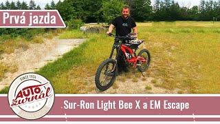 Sur-Ron Light Bee X a EM Escape Prvá jazda: Elektrické motorky ktoré stoja za to!