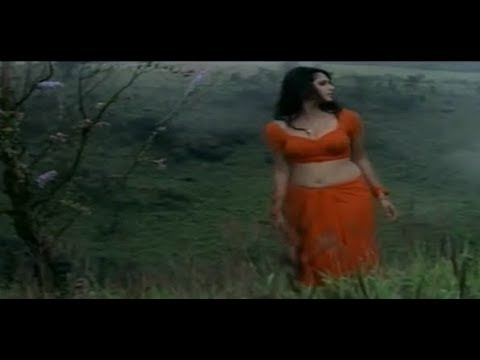 Anushka Shetty hot navel show in orange saree