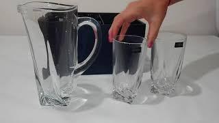 Набор для воды Bohemia Quadro 7 предметов - обзор