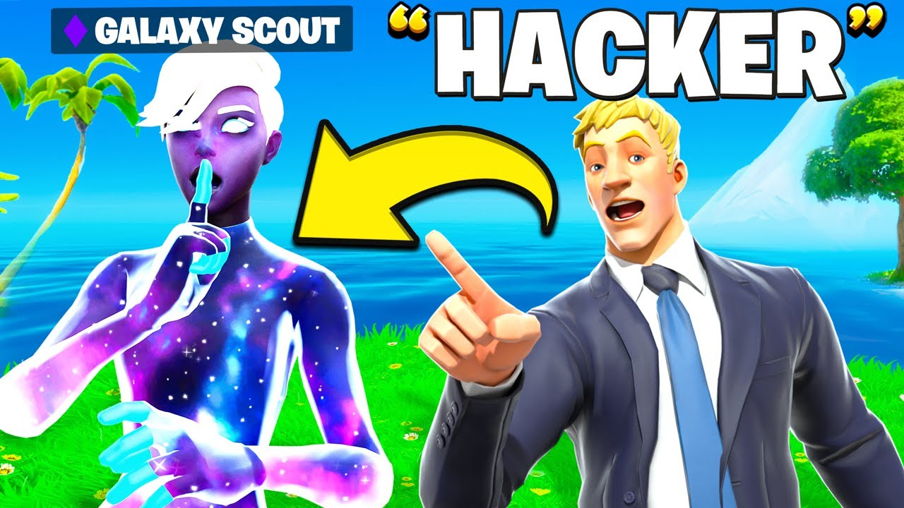I Trolled Him With The NEW Galaxy Scout Skin In Fortnite