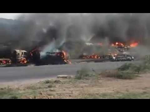 Karachi Super Highway oIl tanker accident 7 September 2016