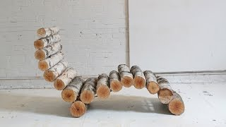 How To Make Log Furniture: The Log Lounger