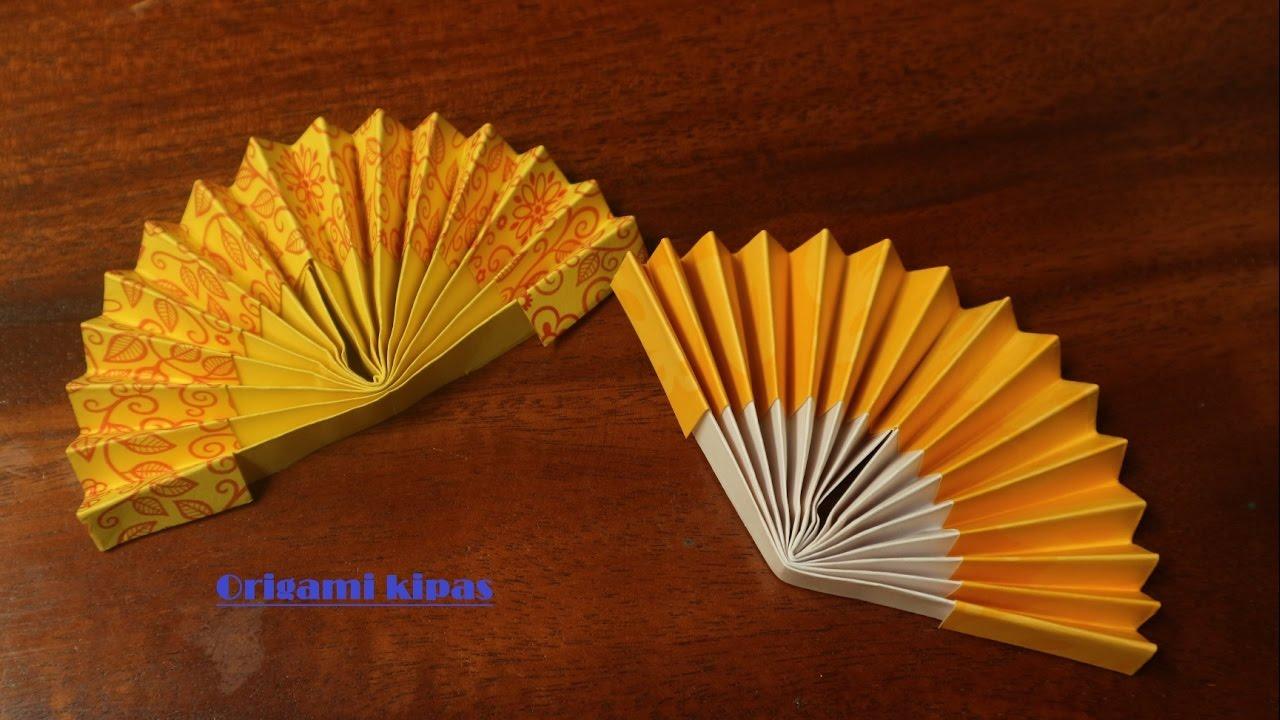 Cara Membuat Origami Kipas Tangan Kertas Youtube