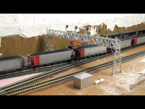 7 trains in 8 minutes on my Powder River Basin layout.
