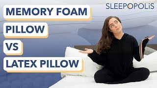Memory Foam vs Latex Foam Pillow Review - Which is Best for You?