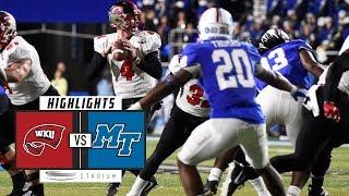 Western Kentucky vs. Middle Tennessee Football Highlights (2018) | Stadium