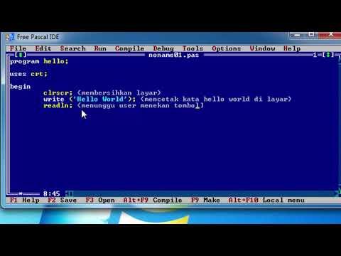 Tutorial Pascal : Program Hello Word (Fungsi Clrscr, Write & Readln)