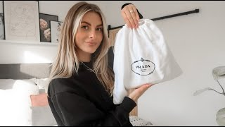 HANDBAG REVEAL VLOG… TWO PRADA PURCHASES? | Fashion Influx
