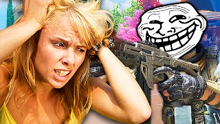 EXTREMELY STUPID MOM TROLLED ON BLACK OPS 3! (Black Ops 3 Trolling)