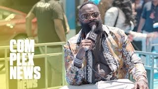BET Awards Red Carpet: Rick Ross Teases 'Port of Miami 2' Date & Rappers Remember Nipsey