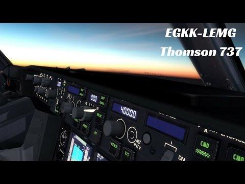 [P3D] EGKK (Gatwick)-LEMG (Malaga) Thomson 737