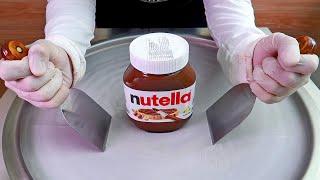 Nutella ice cream rolls street food - ايس كريم رول نوتيلا