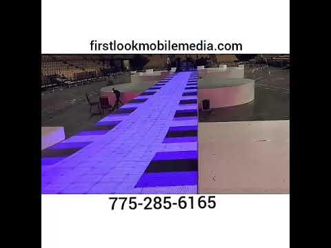 Vegas event rentals LEDs lighting sound stage.