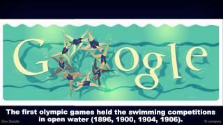 Olympics London 2012 - Swimming Google Doodle