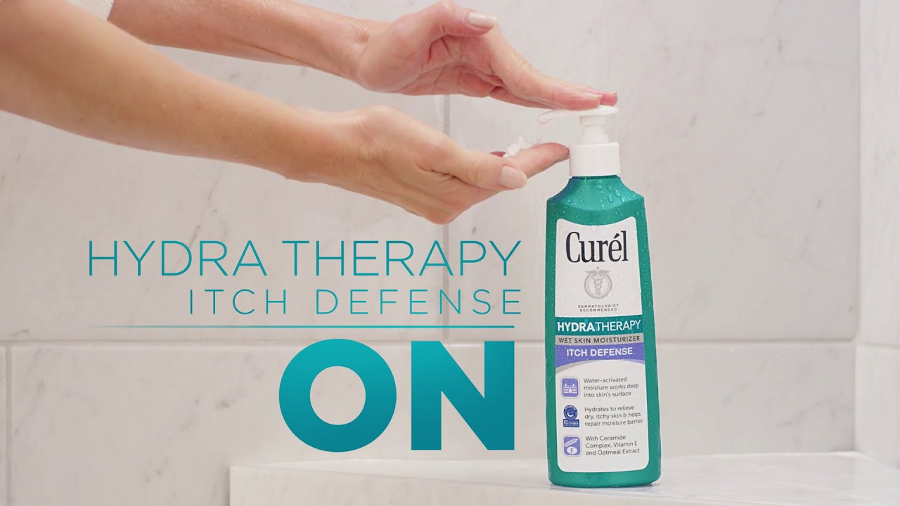 Relief From Dry Itchy Skin Starts In The Shower With Curel Hydra Therapy Itch Defense Moisturizer Youtube