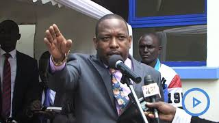 Governor Mike Sonko attacks health cartels at Kangemi Health Centre