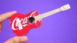 Increíble Mini Guitarra hecha con latas de refrescos
