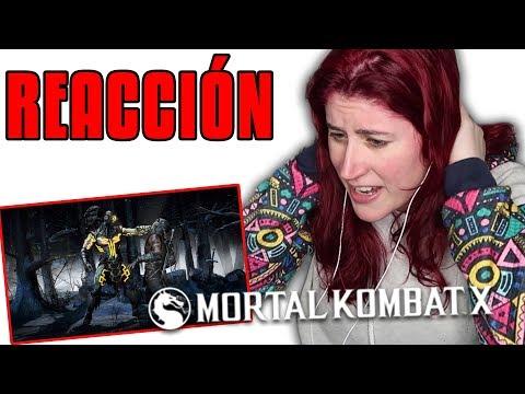 REACCION a los FATALITIES de MORTAL KOMBAT X por HELANYAH   Parte 2