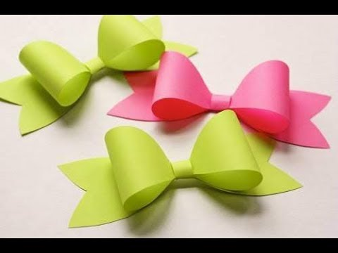 Paper Bow Diy How To Make A Paper Bow Easy Origami Bow Paper