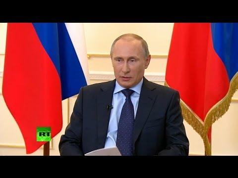 0 Владимир Путин: Необходимости ввода войск на Украину пока нет