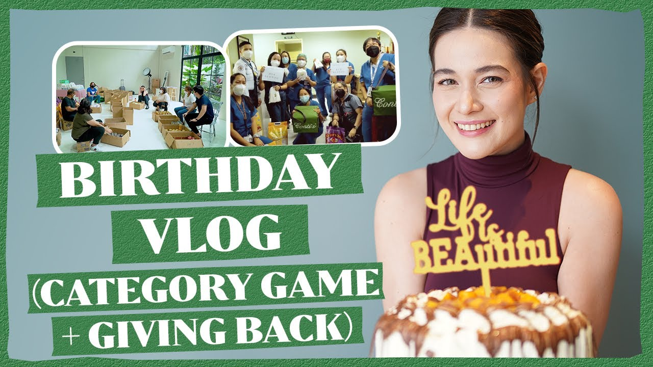 Download BIRTHDAY VLOG (CATEGORY GAME + GIVING BACK TO FRONTLINERS AND FANS)   Bea Alonzo