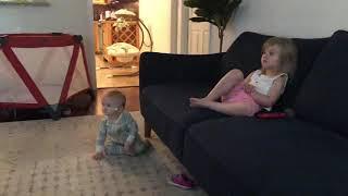 Ivy dancing to kids music