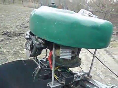 Как сделать лодочному мотор из бензопилы 200