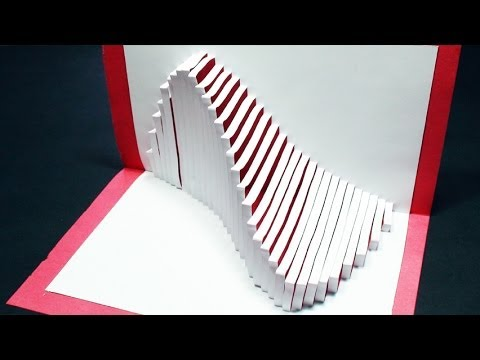 How to make a wave pop up card free template kirigami for 3d pop up card templates free