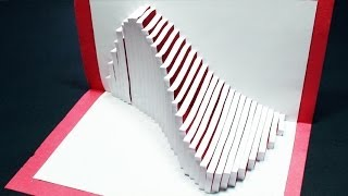 How to make a Wave Pop Up Card | FREE Template - (Kirigami 3D) Ocean Wave Greeting Card!