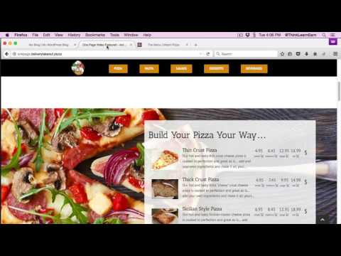 Learn To Build Takeout And Delivery Wordpress Responsive Design Websites