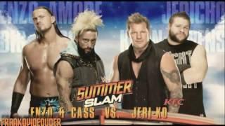 WWE SUMMERSLAM 2016 full match card