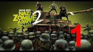 """Sniper Elite Nazi Zombie Army 2 часть 1 """"Чистилище"""". Элитный снайпер против зомби фашистов"""