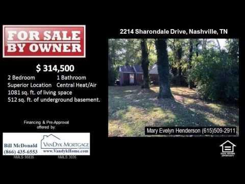 2 Bedroom Home For Sale near Julia Green Elementary School in Nashville TN