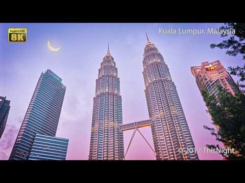 Kuala Lumpur. Malaysia. Royalty-free. 8K Super UHD video