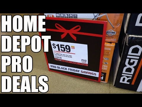 Pro Black Friday Sale Home Depot 2018