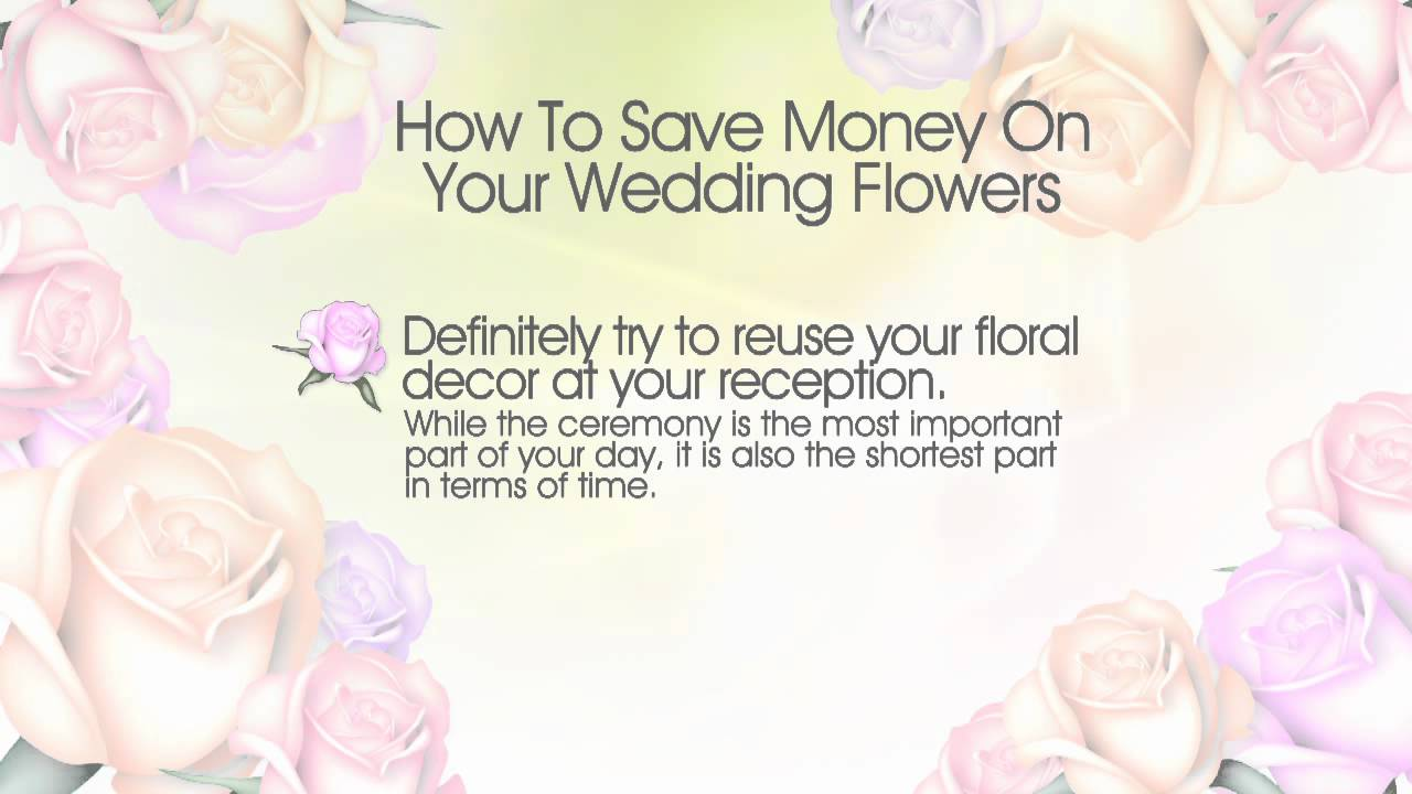 how to save money on your wedding flowers watanabe