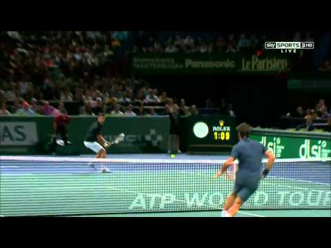 Novak Djokovic vs Roger Federer paris 2013 Highlights 720p