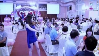小提琴~~文達u0026芯瑜 婚禮宴會上的表演